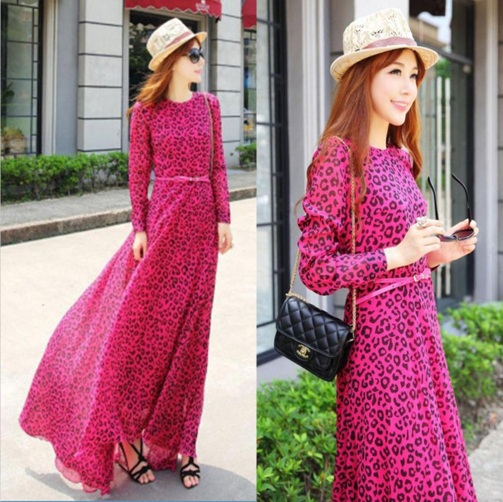 wholesale sleeve casual women maxi long dresses new spring 2014 ...