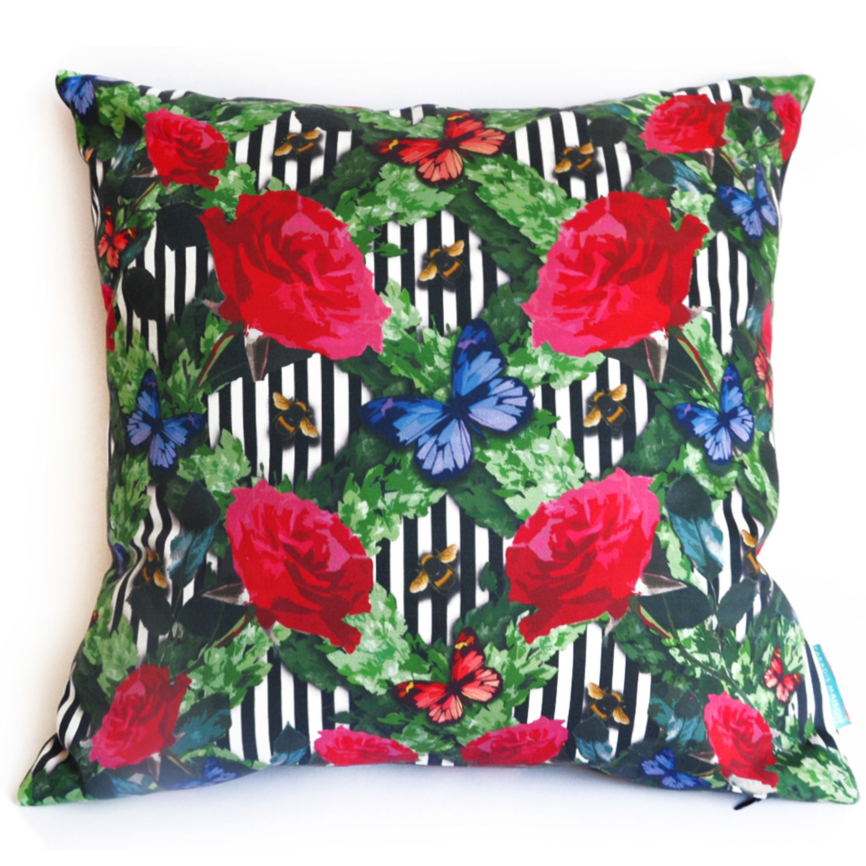 Roses in paradis pillow in paradis maison store