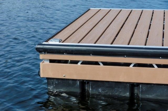 Aluminum Truss Floating Dock With Double Fascia Board Floating