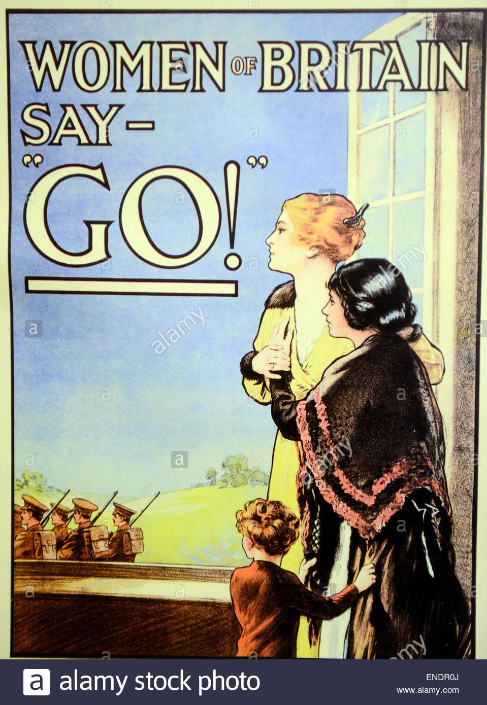 VINTAGE WOMEN OF BRITAIN SAY GO WAR POSTER A2 PRINT