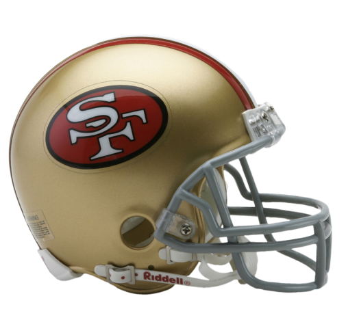 49ers Football Helmet 49ers Helmets 49ers Nfl Riddell Replica Mini Football Football Helmets Mini Football Helmet Mini Footballs