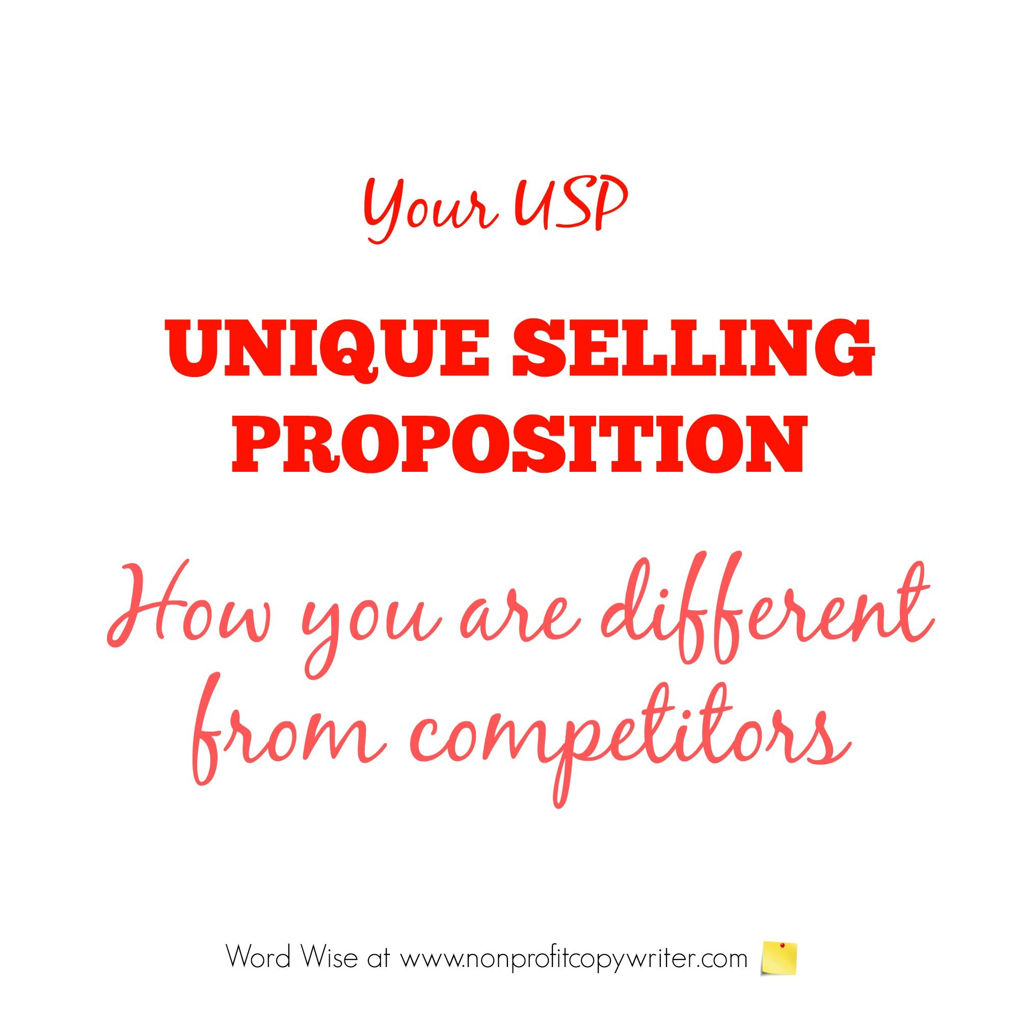 Usp Your Nonprofit S Unique Selling Proposition Unique Selling Proposition Writing Jobs Tech Writing