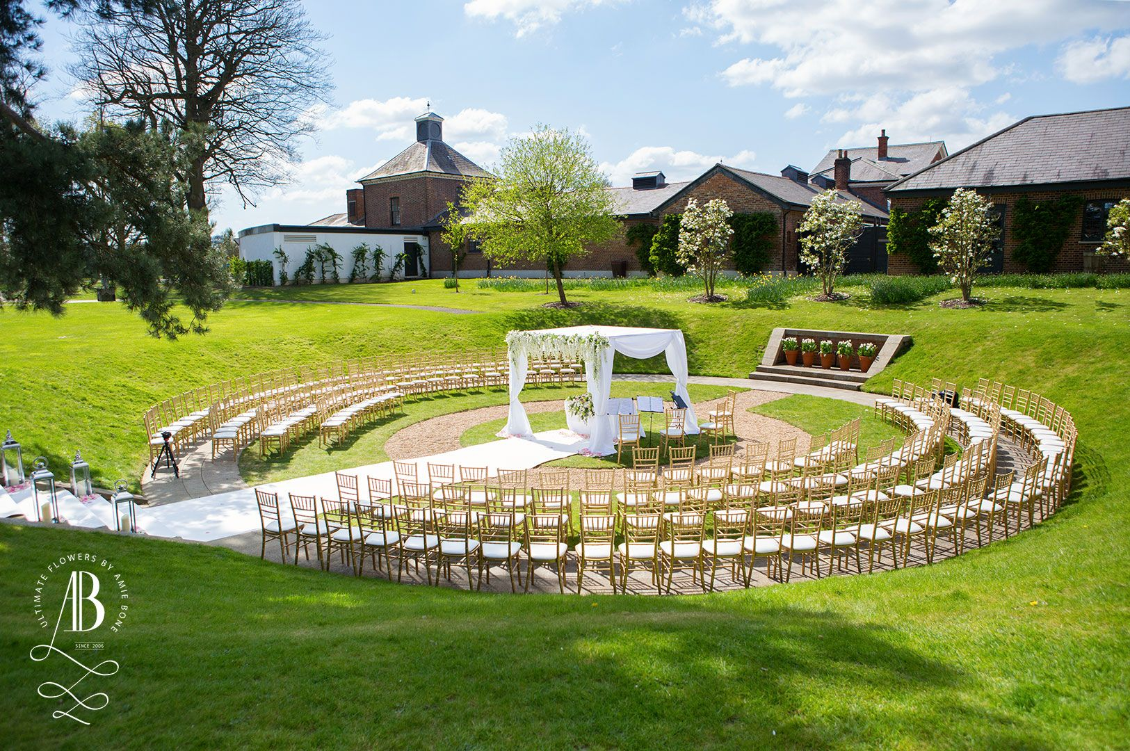 Love Love Love! We transformed the sunken gardens at The Grove Hotel...and the sun was shining too! #wedding