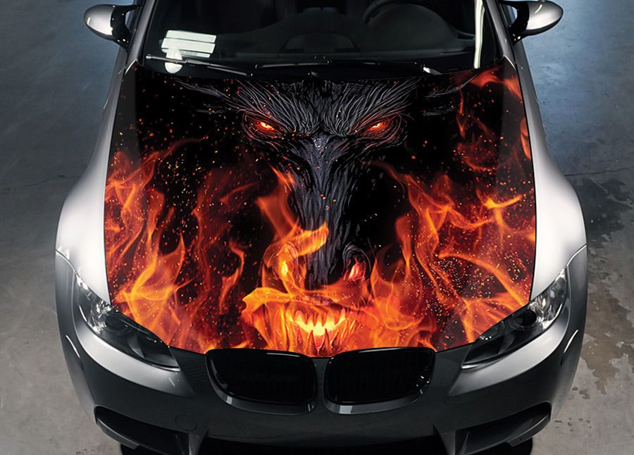 Details about Dragon Eyes Car Hood Wrap Color Vinyl