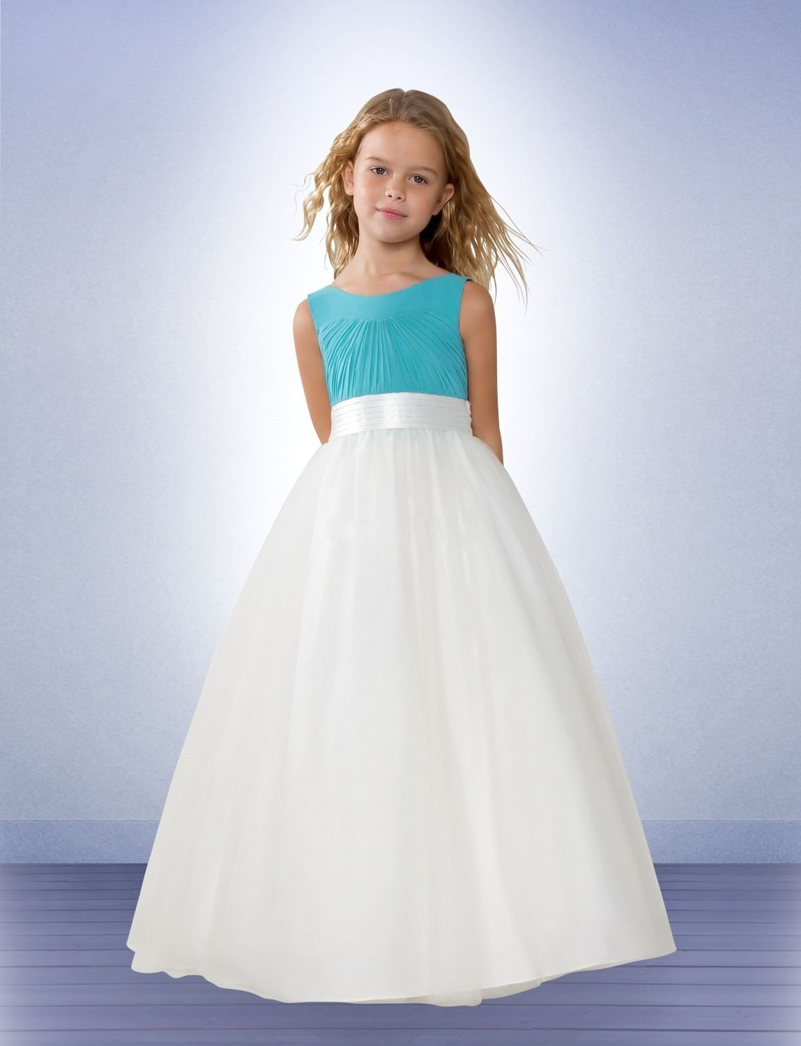 white-aqua-junior-bridesmaid-dresses- | Junior Bridesmaid Dresses ...