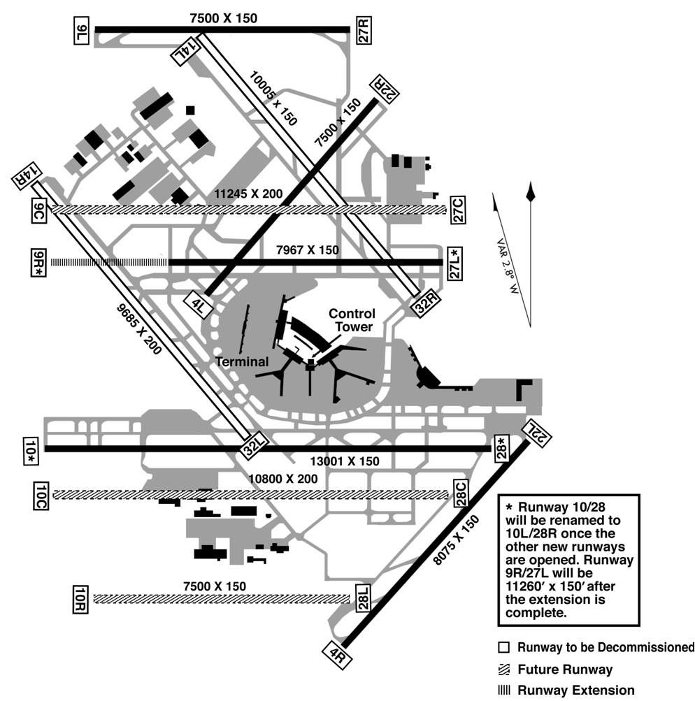 Chicago O'Hare International Airport Map O'hare