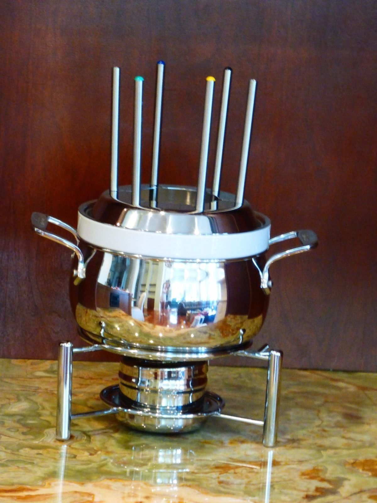 All clad instant read thermometer - All Clad Fondue Pot With White Ceramic Insert Ebay