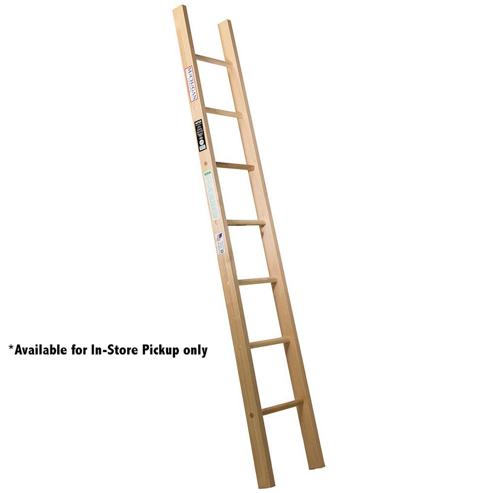 Single Straight Wood Ladder 136 Wood Ladder Wooden Ladders For Sale Ladder