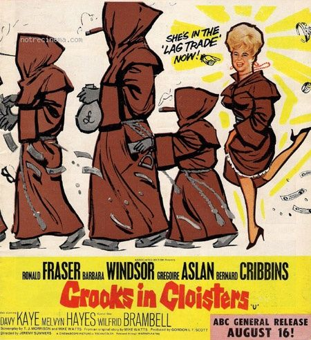 Crooks In Cloisters. 1964 | Film posters vintage, Film posters ...