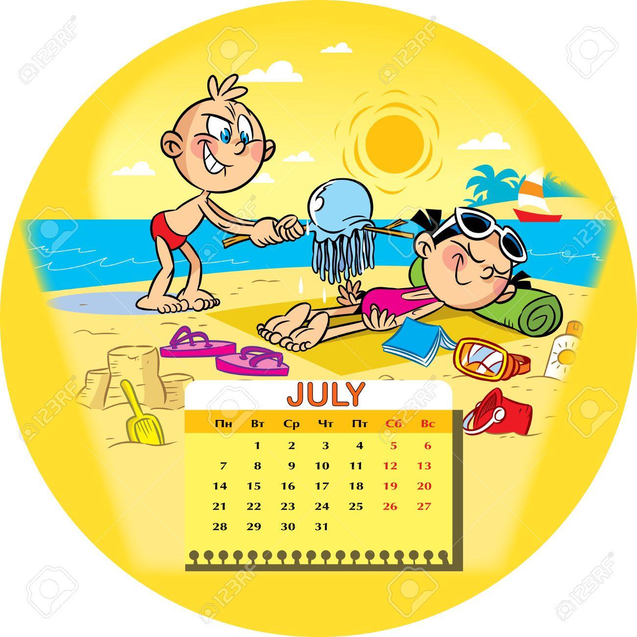 Calendario de la red en julio 2014 en el contexto de un for Clipart calendario