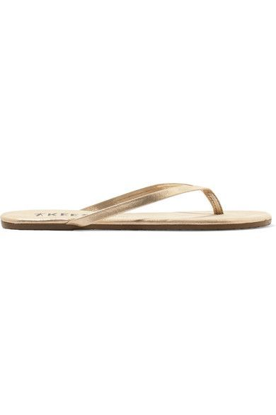 4f97e0fb90c7 TKEES TKEES - LILY METALLIC SUEDE FLIP FLOPS - GOLD.  tkees  shoes  sandals