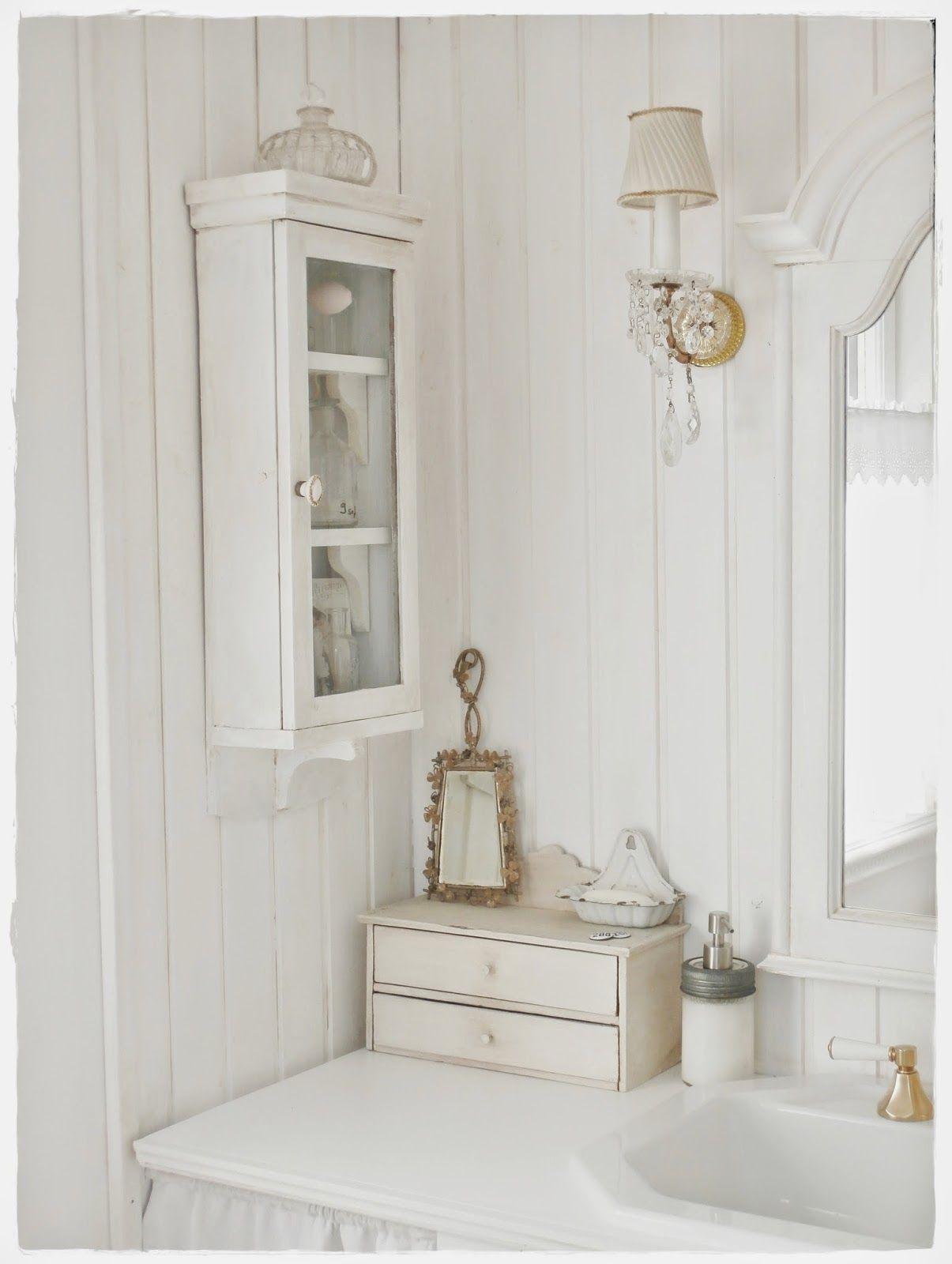 Una favolosa stanza da bagno in stile shabby chic | Rustic Home ...