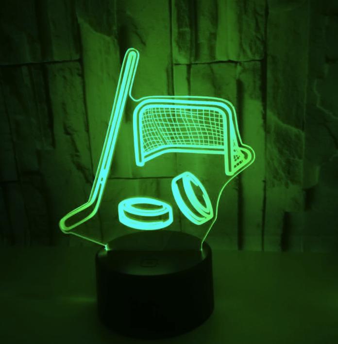 Hockey Stick Puck Led Lamp Led Night Lamp Led Lamp Hockey Stick