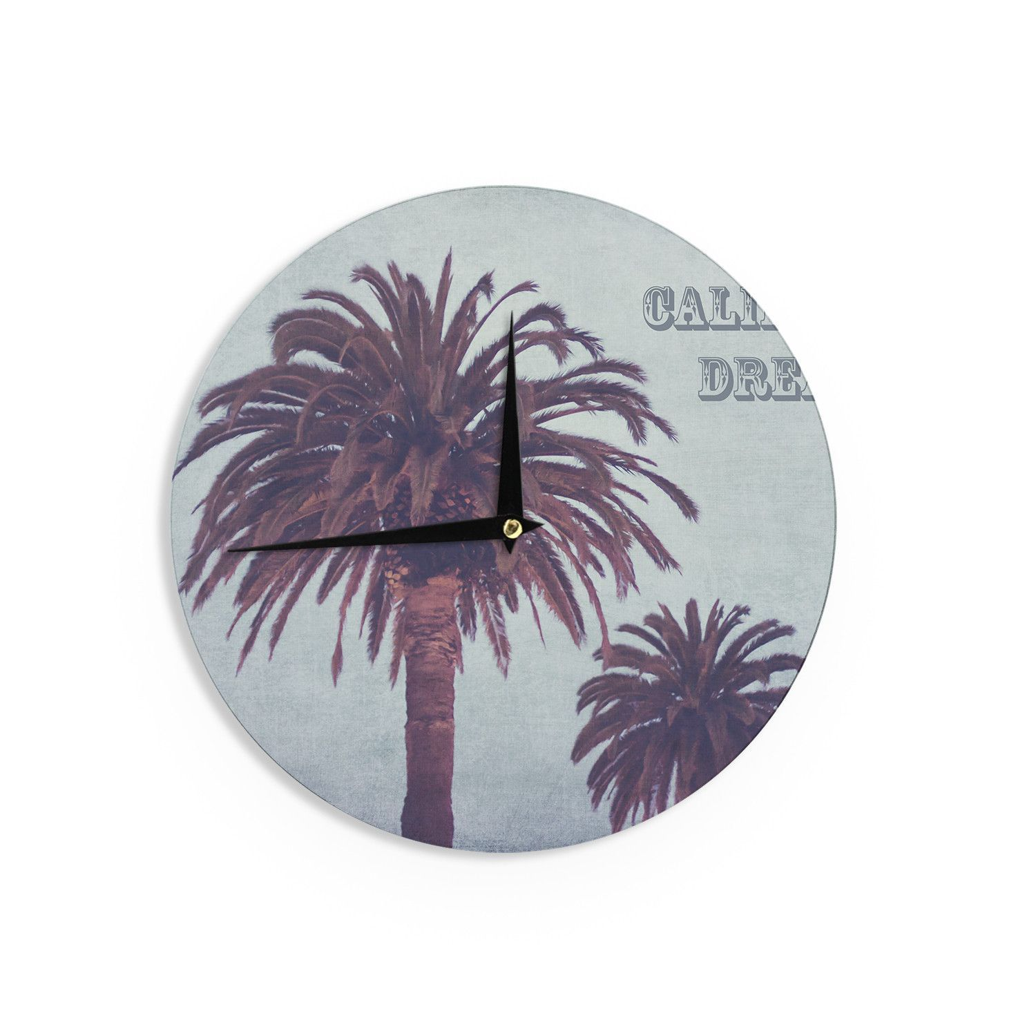 Ann Barnes California Dreams Blue Brown Wall Clock Products