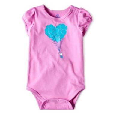 Okie Dokie® Short-Sleeve Glitter Bodysuit – Girls newborn-24m  found at @JCPenney