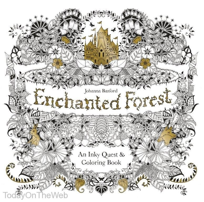 Enchanted Forest An Inky Quest Coloring Book By Johanna Basford New Paperback