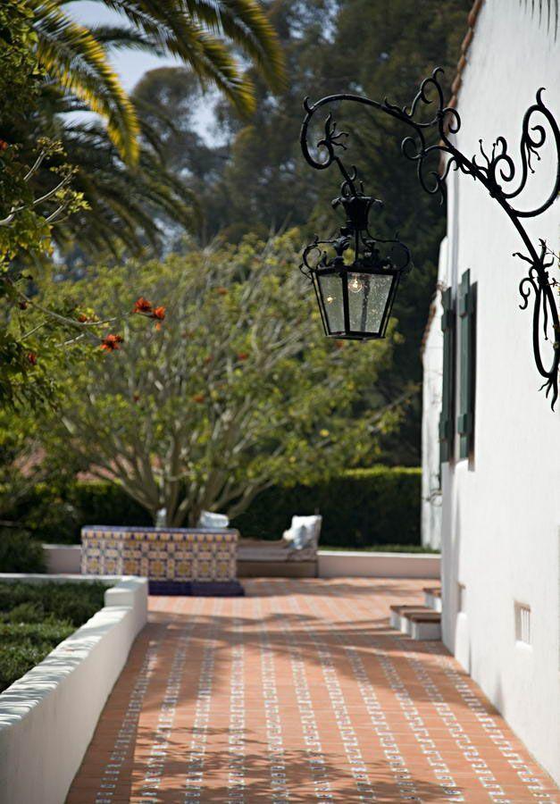Spanish Colonial Revival Exterior Lantern Wrought Iron
