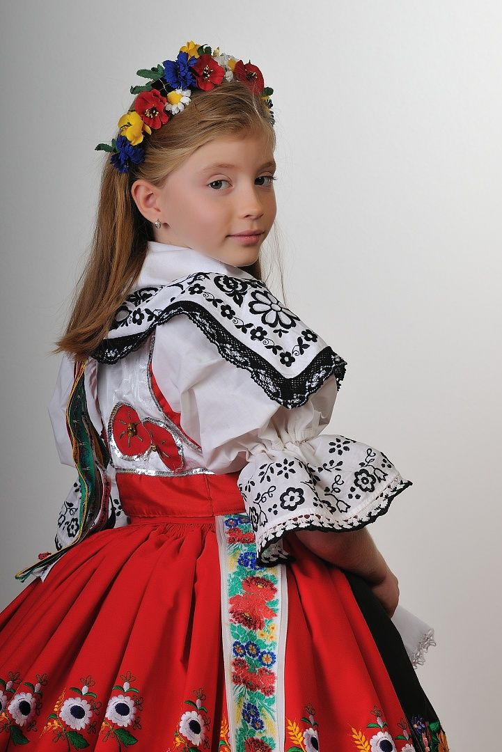 girl with traditional clothes from czech republic lbk