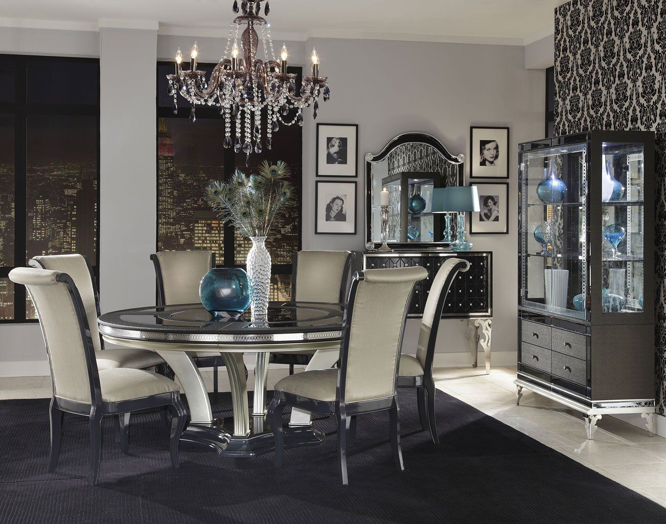 Best Hollywood Swank Round Dining Room Set Round Dining Room 400 x 300