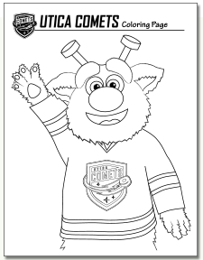 Audie, The Utica Comets Mascot, Coloring Page! Audie