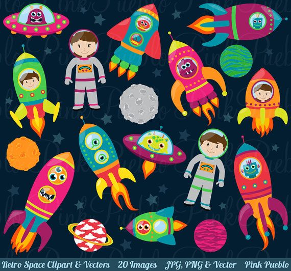 400 Free Awesome Clip Art Graphics | Astronauts, Spaceships and Aliens