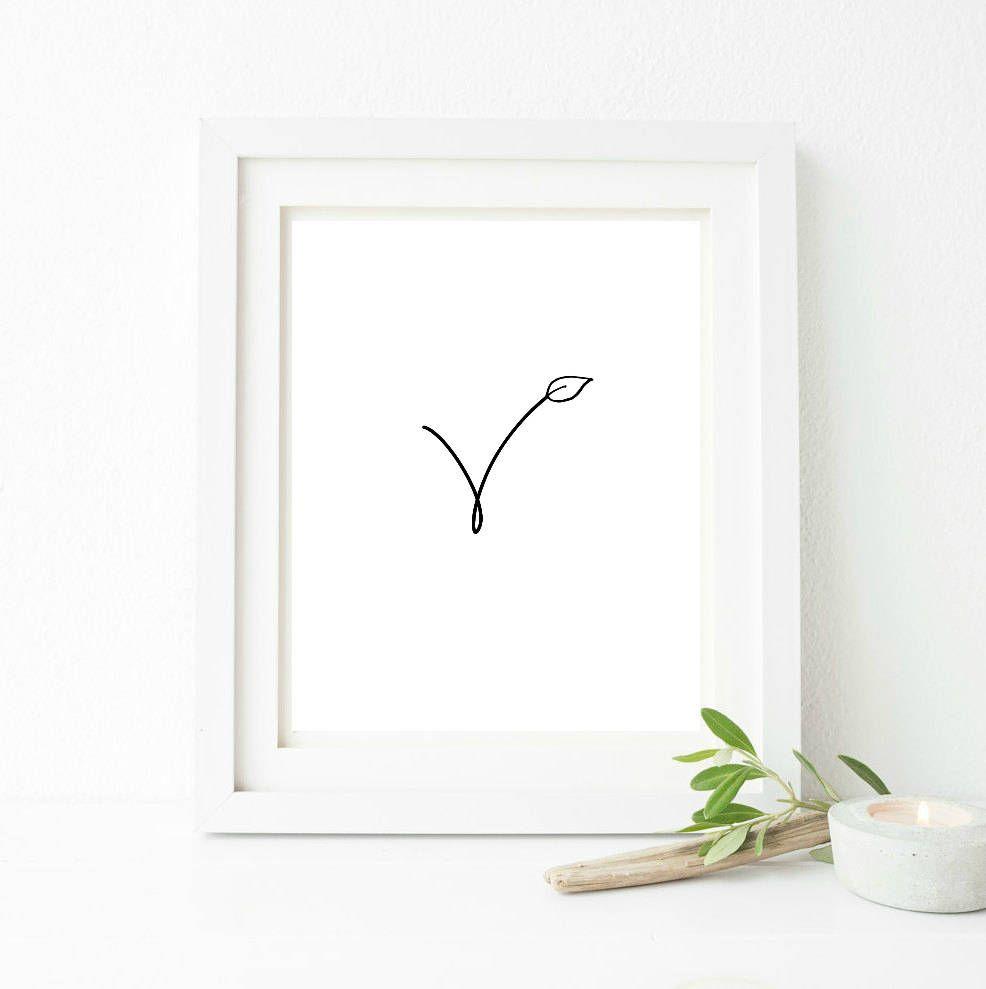 Photo of Vegan, pflanzlich, veganes Symbol, Raumdekoration, Inneneinrichtungen, Wanddekoration, Küchendekoration, bedruckbar, Wand Kunstdruck, bedruckbare Kunst, minimal