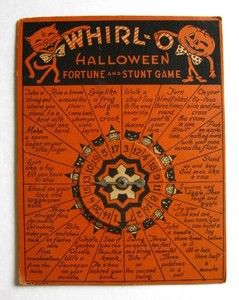 Rare 1930s Halloween Whirl O Spin The Wheel Fortune Stunt Game By Beistle Vintage Halloween Vintage Halloween Decorations Black Cat Halloween