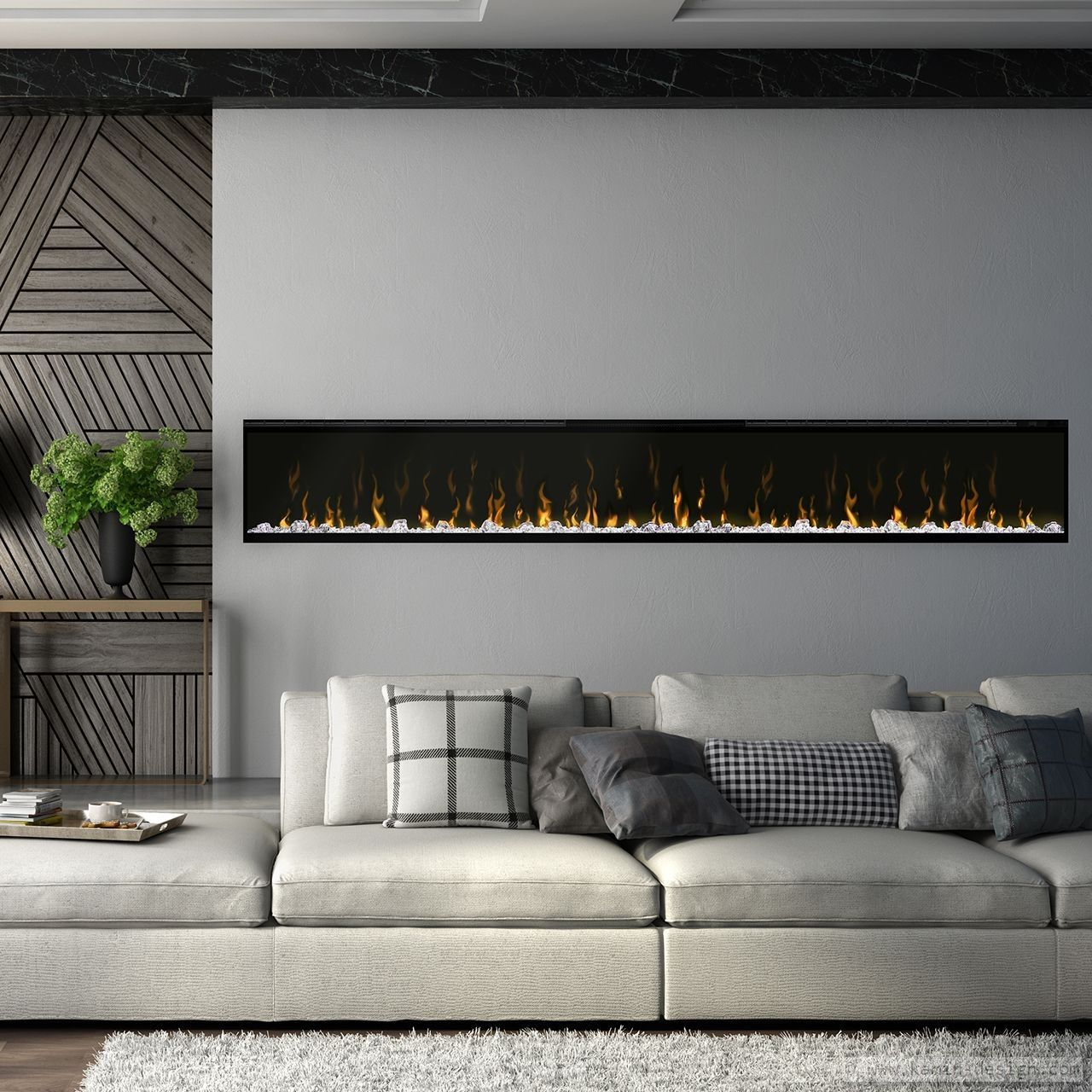 Dimplex Prisma 189 Elektrobreitwandkamin | Fireplace wall, Walls and ...