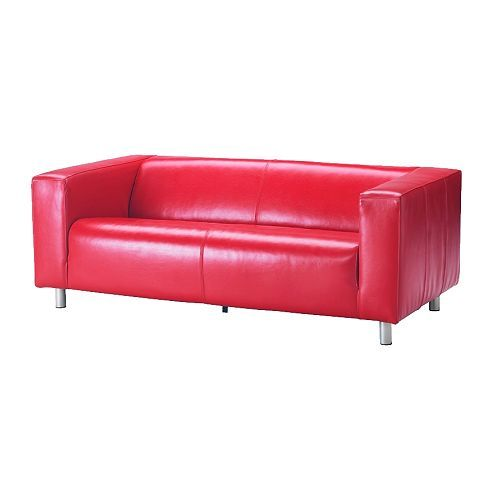 KLIPPAN Two Seat Sofa IKEA Durable, Easy Care Split Leather; Practical For  Families