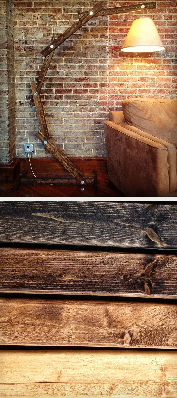 Rustic Wooden Floor Lamp Verlichting Houten Interieur