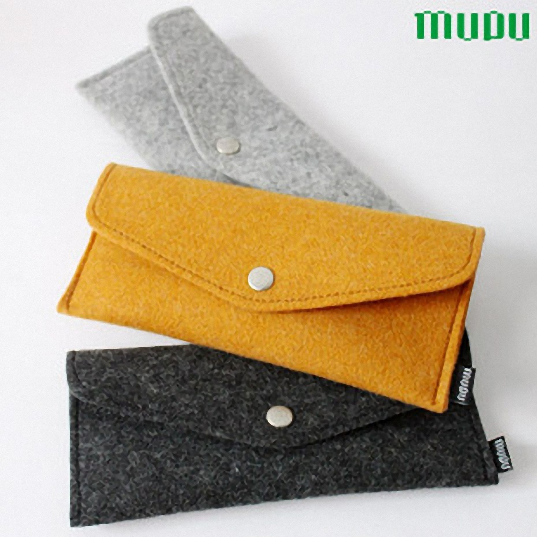 designer wool felt recyclable environmental special wallet clutch