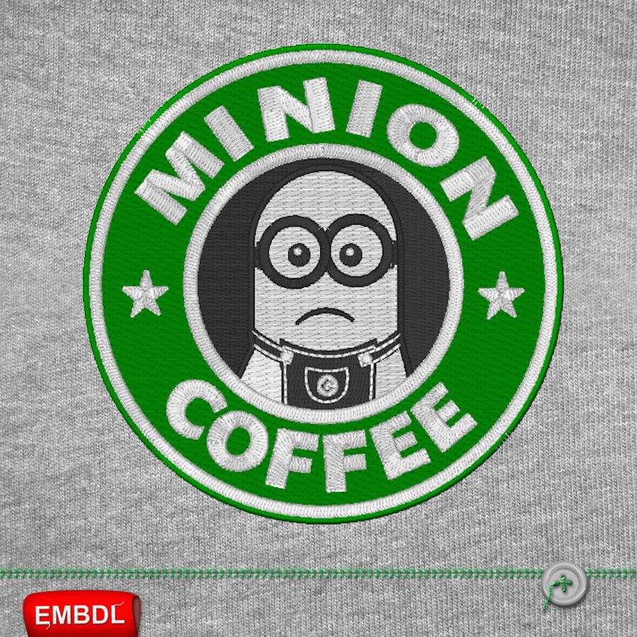 Minion Coffee - Embroidery Design Instant Download ...