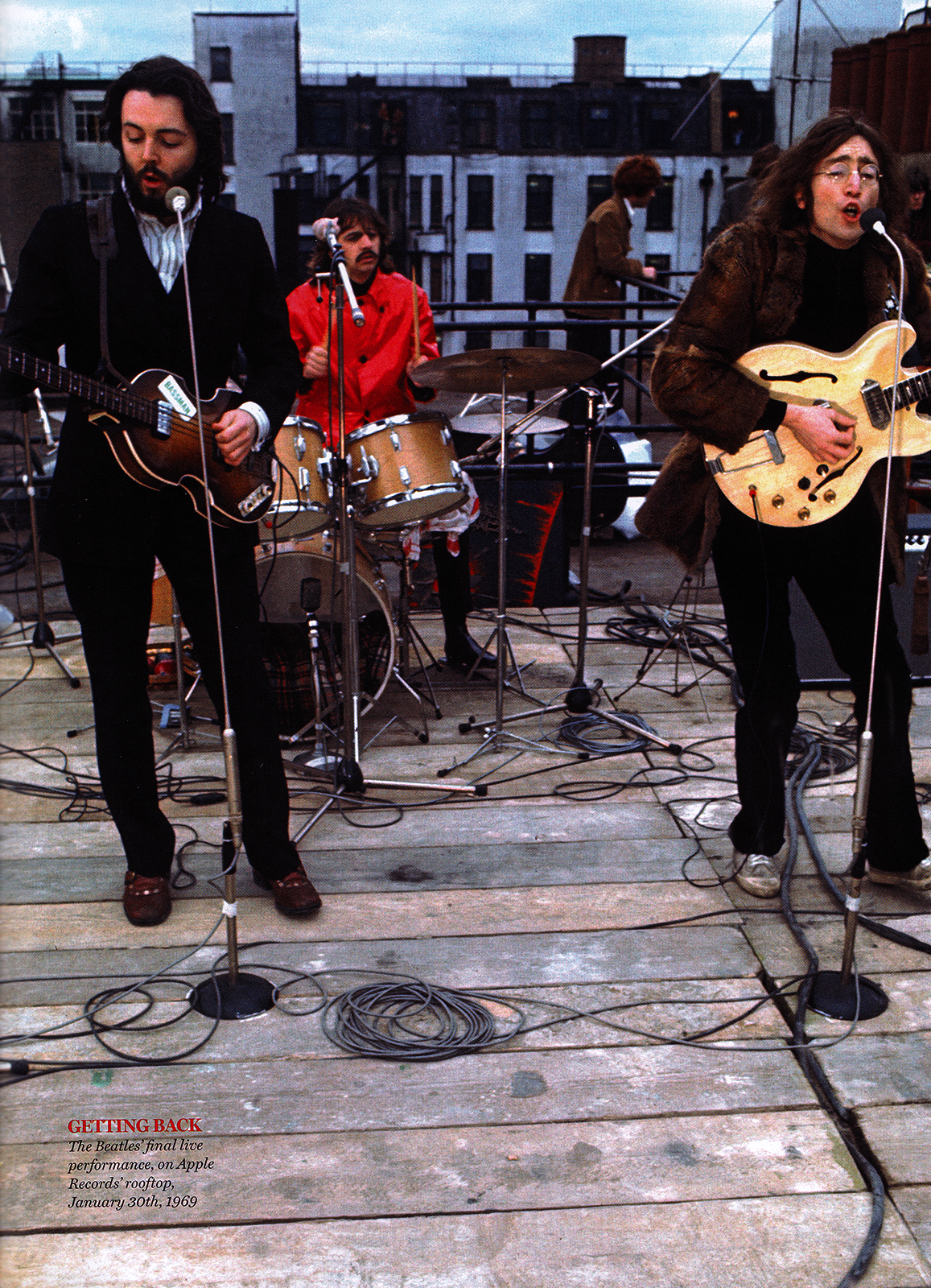 The Beatles' final live performance, on Apple Records ...