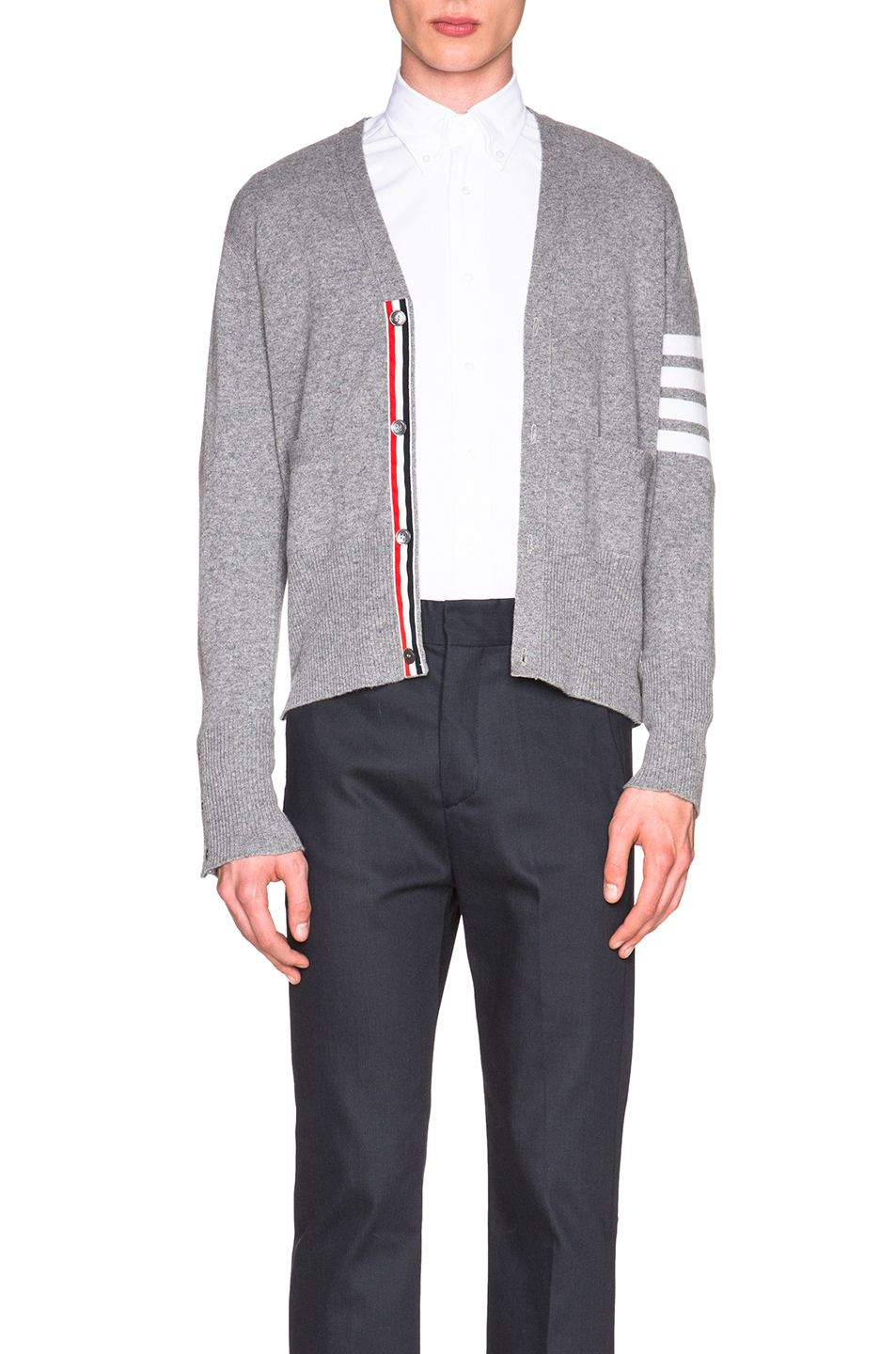 Thom Browne Classic Cashmere Cardigan in Light Grey | My Style ...