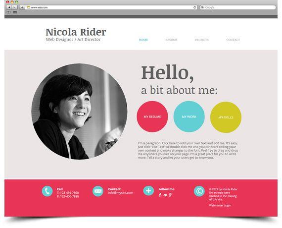 resume portfolio site examples