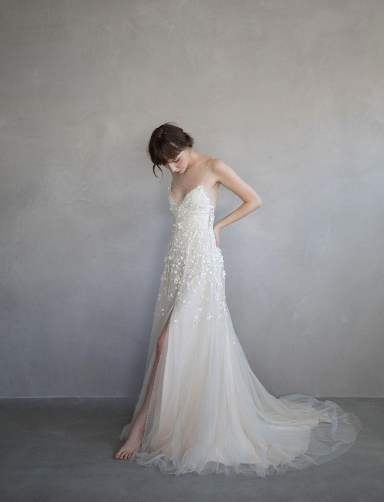 Best wedding dresses for 50 year olds  Alexandra Grecco Magic Hour Collection  French Old World Vintage