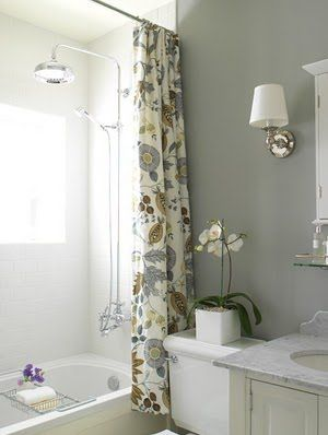 Gray And Beige Bathroom Love The Shower Curtain Beautiful