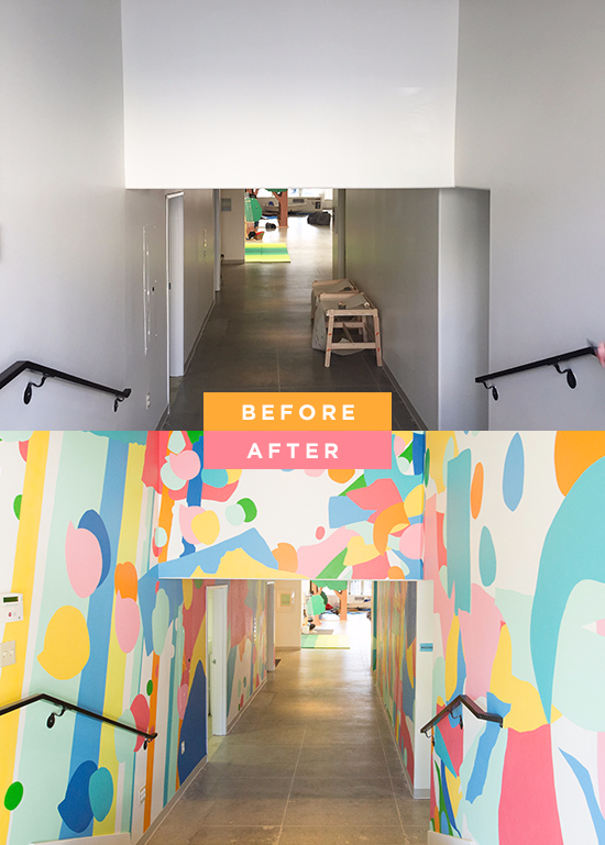 Best Interior Design Schools In California Painting oh joy mural for the southern california children's museum | art