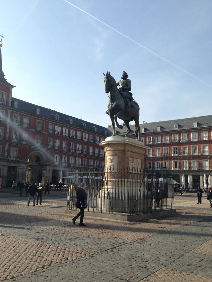 Estatua ecuestre de Felipe III, en la Plaza Mayor.