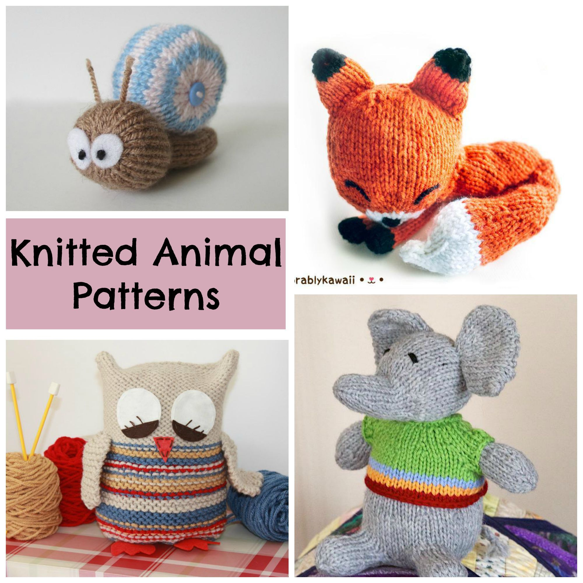 Bring On the Cuddles! 7 Knitted Animals to Love | Cuddling, Knit ...