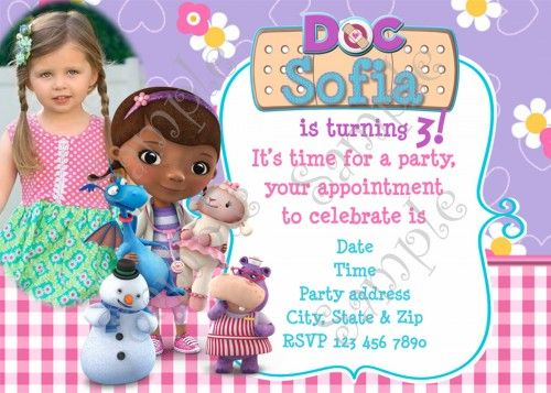 Doc Mcstuffins Birthday Party Invitation Free Thank You Card Doc