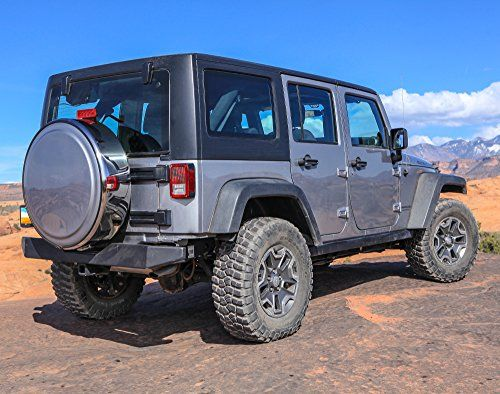 Jeep Wrangler Jk White Hard Tire Cover And Polished Stainless Ring