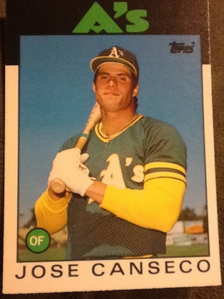 1986 topps traded 20t jose canseco oakland athletics