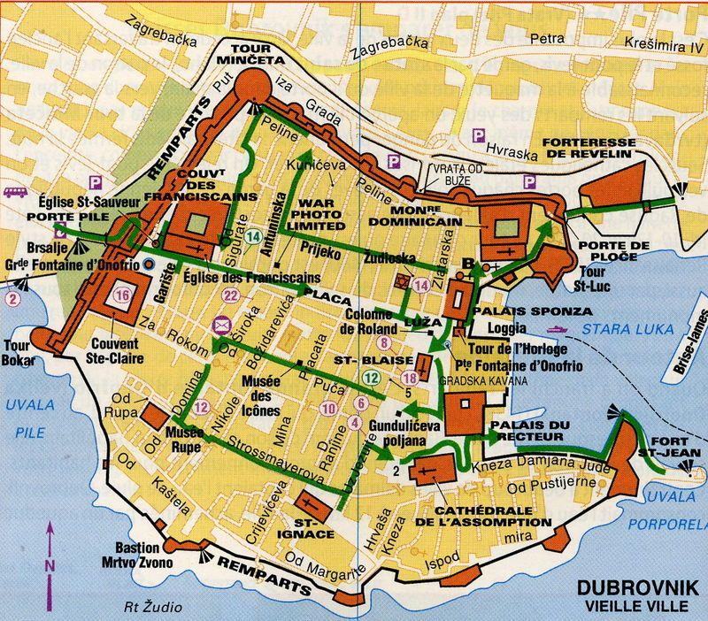 Dubrovnik La Carte De La Vieille Cite Photo De Croatie Photos Vacances Avril 2008 Le Scrap De Nicoue Dubrovnik Vacances Avril Croatie