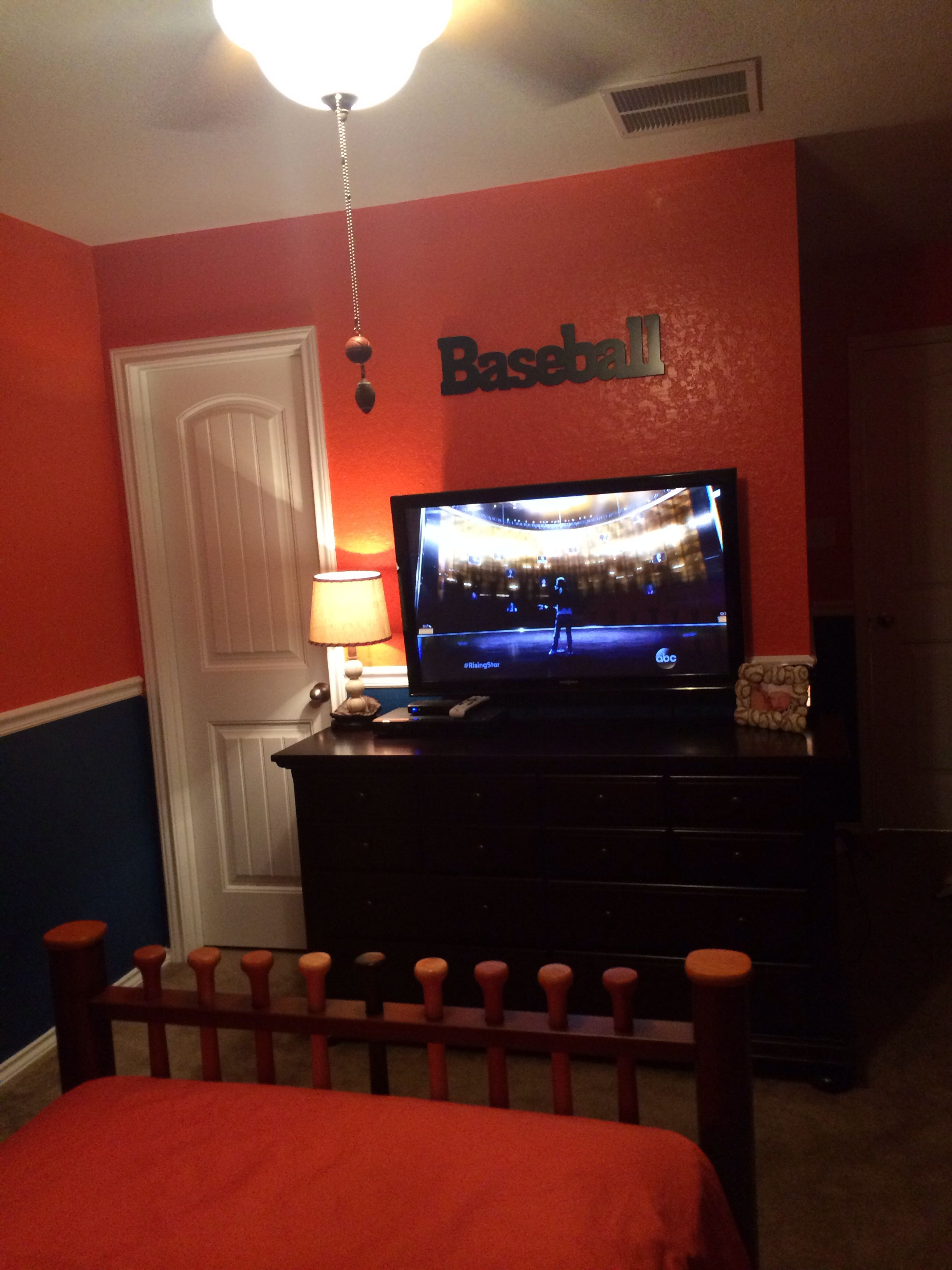 Kasons Room, Baseball, Blue And Orange, Pottery Barn, Rooms To