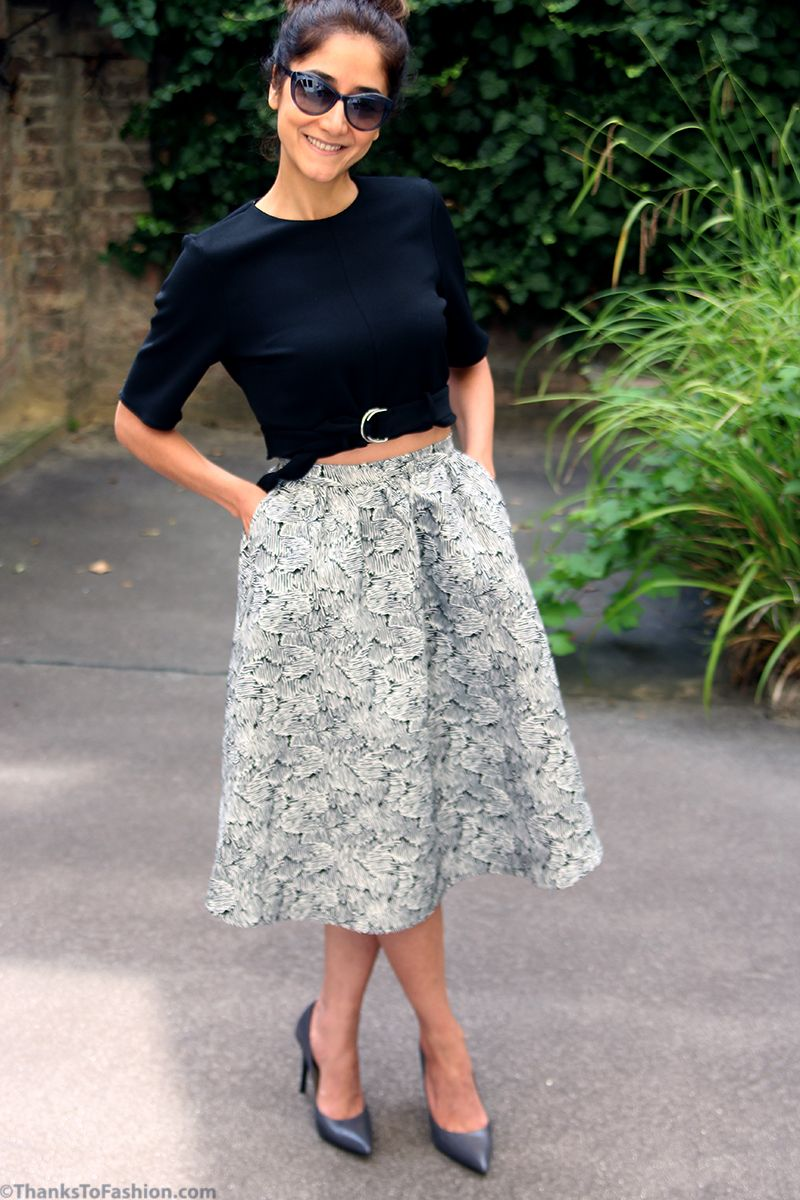 This Time It Is A Flared Midi Skirt Also Known As Poodle From The Old Movies Featuring Audrey Hepburn