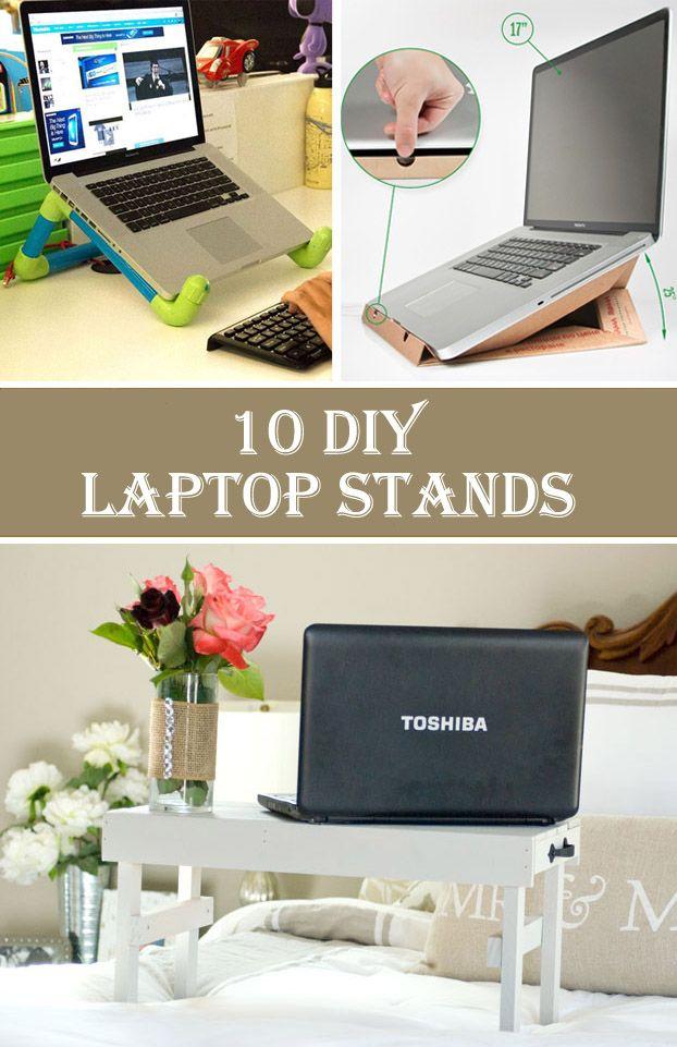 10 Cheap Creative Diy Laptop Stands Diy Laptop Stand Diy