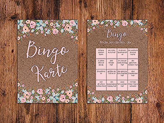 50 Bingokarte Wedding, Wedding Bingo Game, Wedding Game