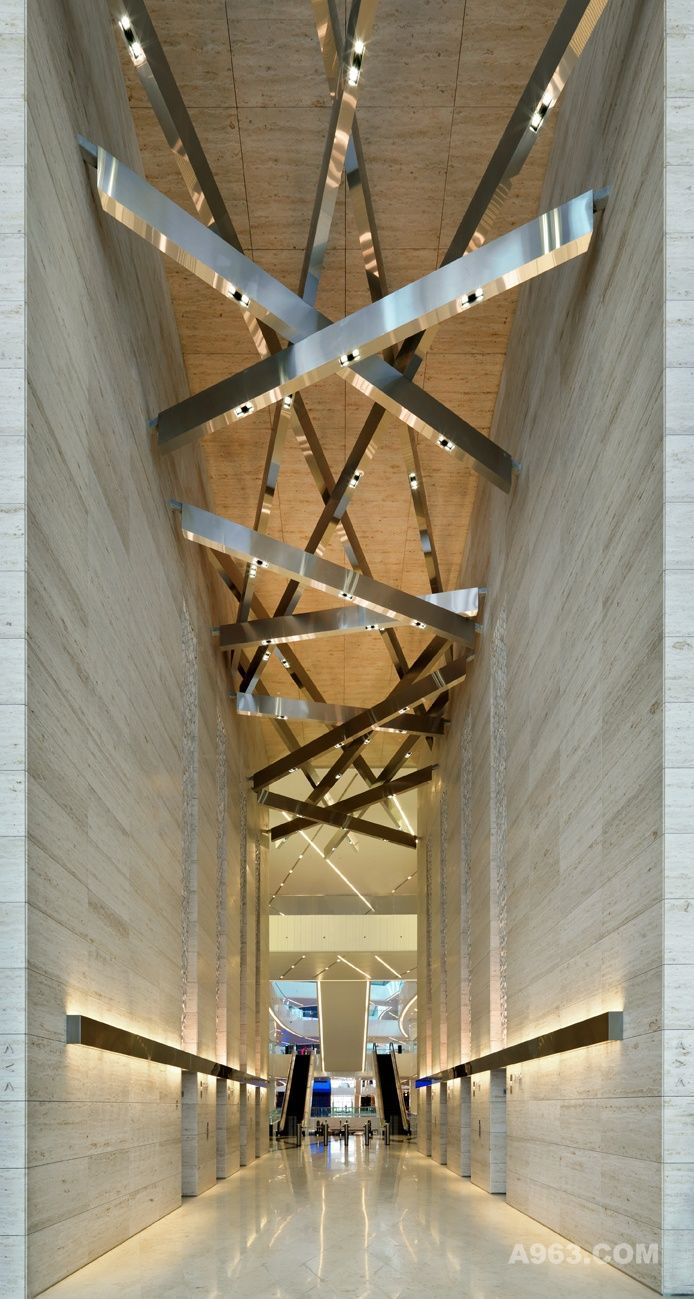 Office hallway lighting  sculpture  prefuntion  Lights  Pinterest  Ceiling Ceilings and