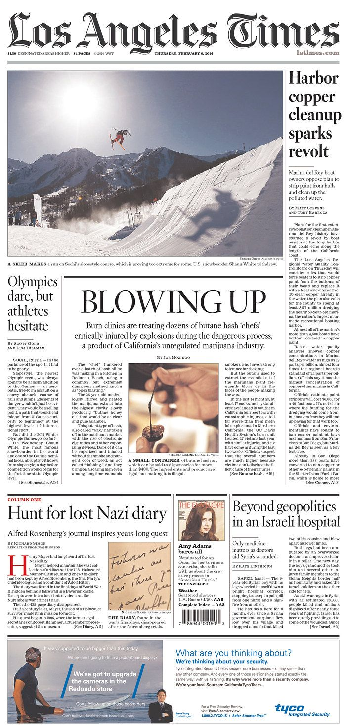 Los Angeles Times Published In Los Angeles California Usa Newspaper Design California California Usa